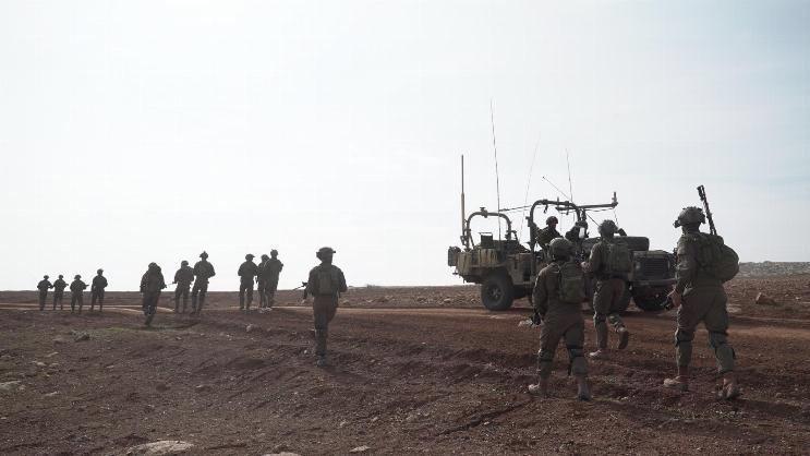 Las tropas israelíes responden a una infiltración de dos terroristas palestinos del norte de la Franja de Gaza el 8 de marzo de 2019. (Yediot Mehashetah)