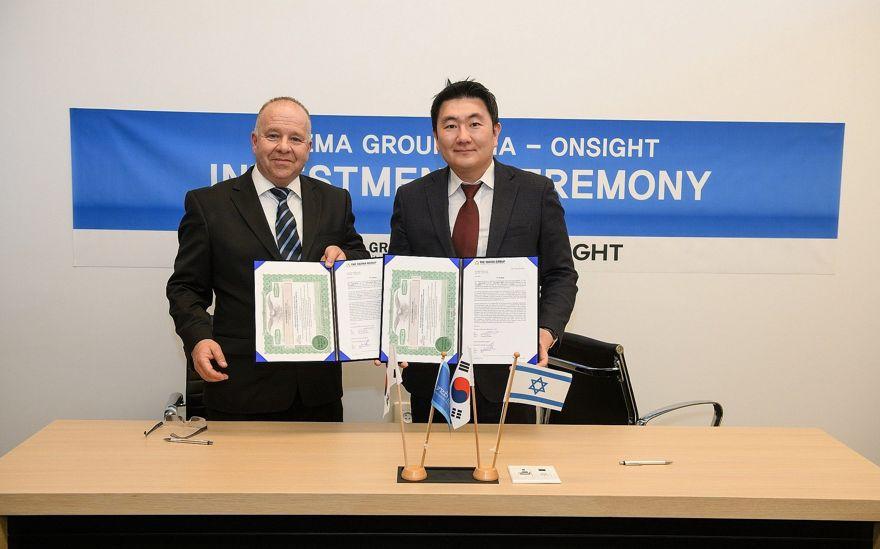 El CEO de On-Sight, Dr. Yoram Eshel, izquierda, y el Socio Gerente de Yozma Group Asia, el Sr. Wonjae Lee (Instituto de Tecnología de Weizmann)