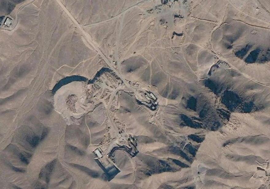 Vista satelital de la planta nuclear de Fordow en Irán.