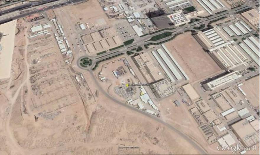 Imágenes satelitales de Google Earth del reactor nuclear saudí - Captura de pantalla / Google Earth