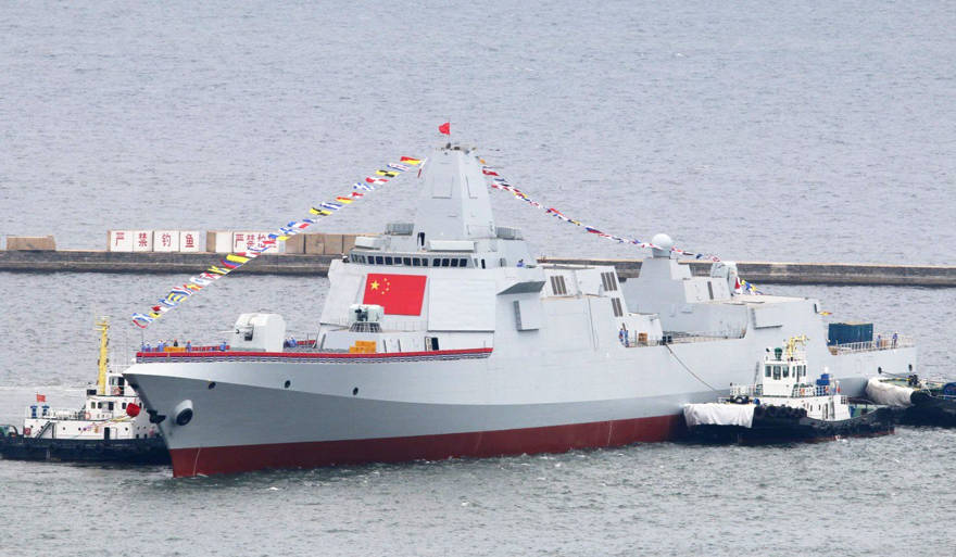 El Tipo 055 de China es el mayor destructor de misiles guiados en Asia. Foto: Folleto