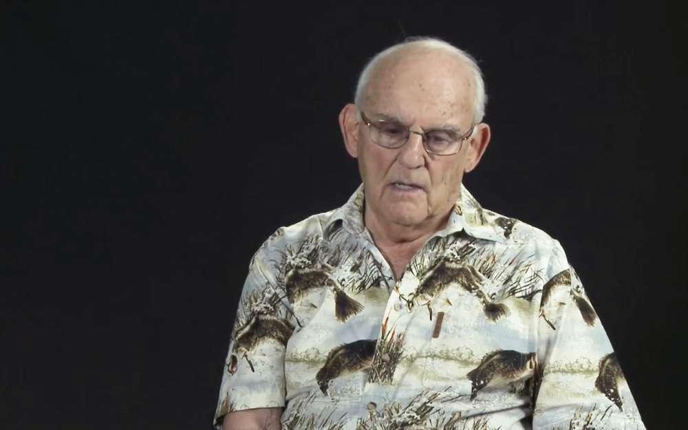 Alan Moskin, un veterano del ejército estadounidense que participó en la liberación del campo de concentración de Mauthausen.(Captura de pantalla de YouTube)