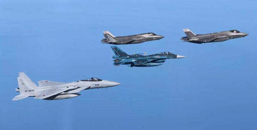 Cazas F-35 de Japón.