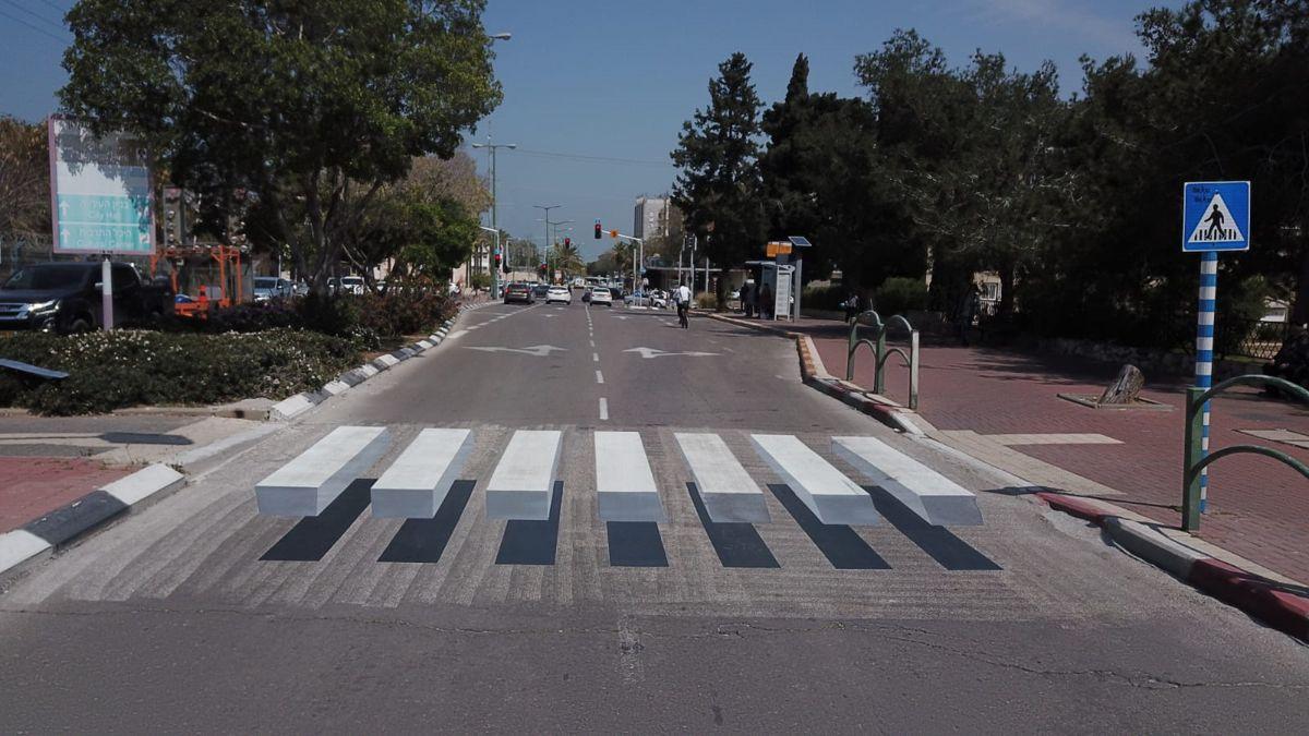 """El cruce peatonal """"3D"""" en Israel"""