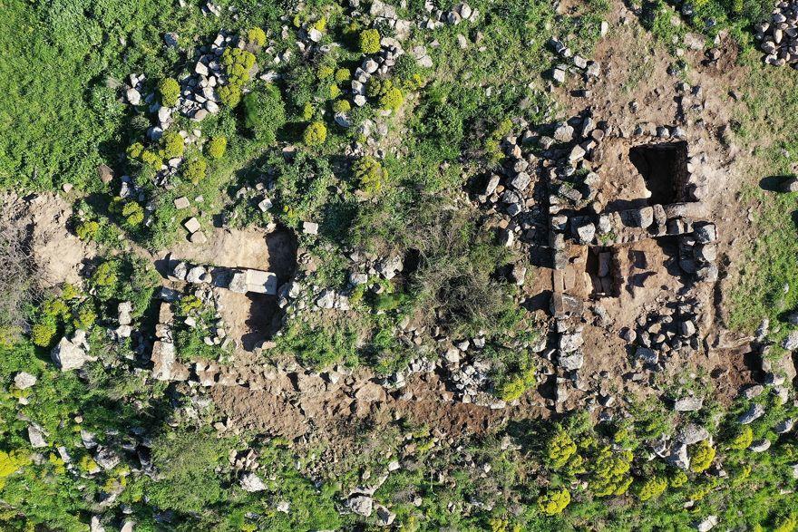 Vista aérea de las excavaciones de Sussita. (Excavación Sussita / Universidad de Haifa)