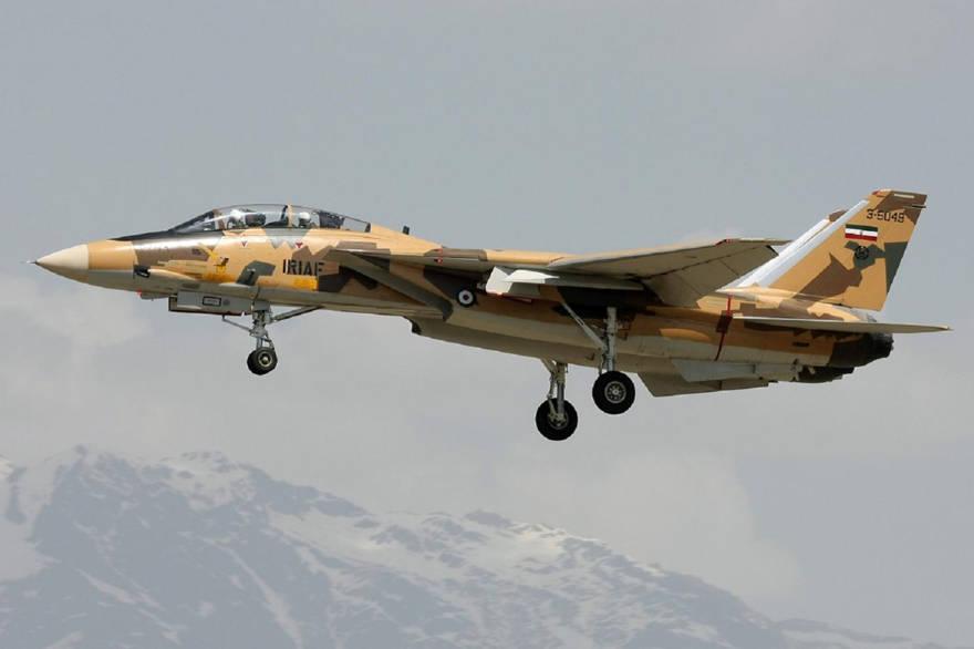 El F-14 Tomcat fabricado en Estados Unido vuela bajo el comando de la Fuerza Aérea de Irán.