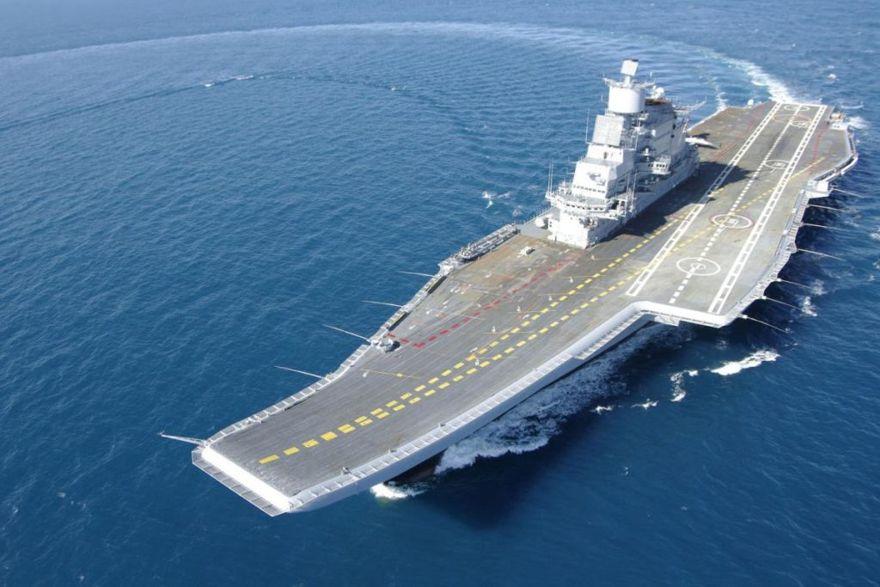 Portaaviones de clase Kiev modificado por la India (Foto cortesía de la marina india)