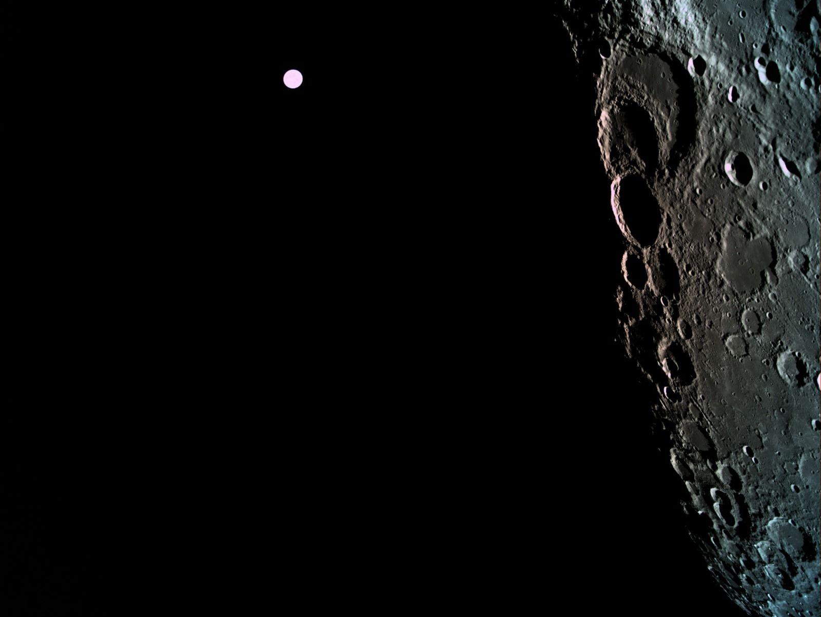 Bereshit de Israel envía sus primeras imágenes de la Luna