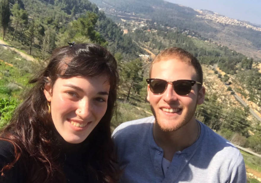 Mendel y Ruchama en Israel.