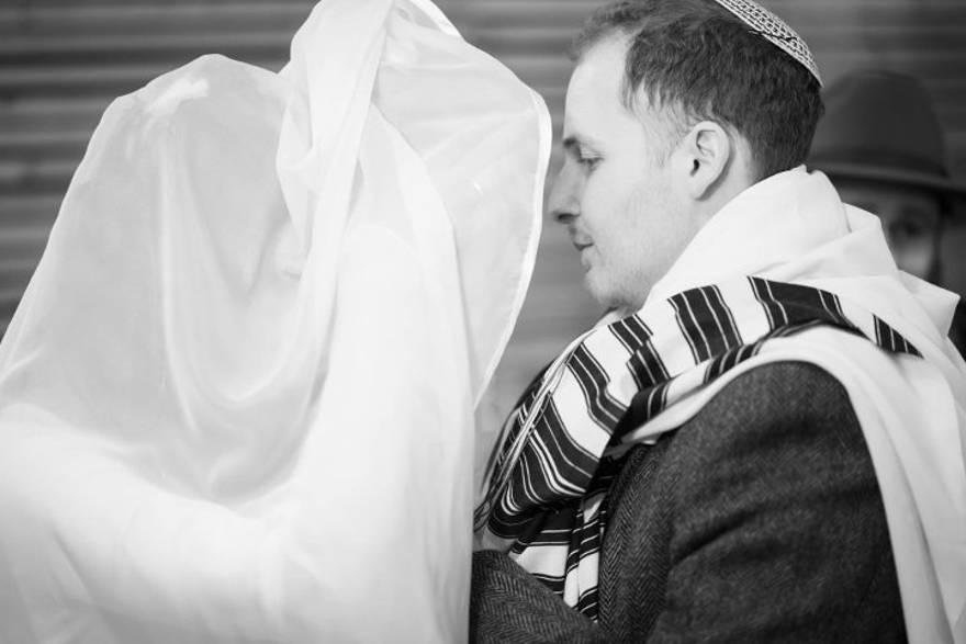 Mendel y Ruchama en su boda.