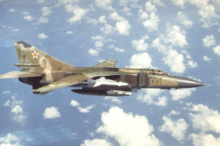 Caza de cuarta generación Mikoyan MiG-23 de Siria.