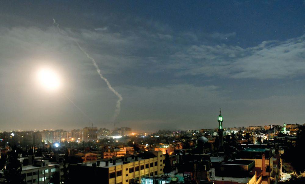Misiles cielo siria