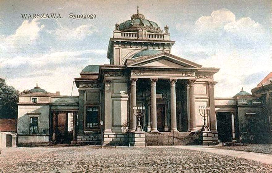 La Gran Sinagoga de Varsovia en la década de 1910 (Wikipedia)