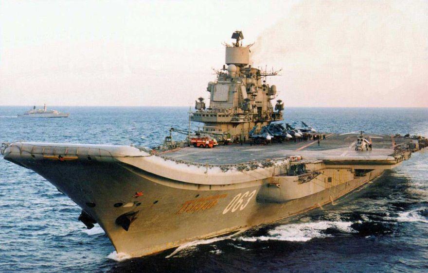 Portaaviones de la clase Kuznetsov (Foto cortesía de la marina rusa)