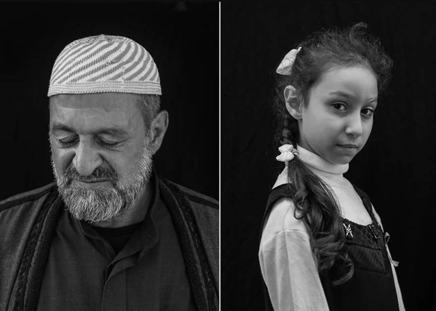Izquierda: Mahmoud Said Dawood, de 55 años. Dawood ha reconstruido aproximadamente el 40% de su hogar en Mosul con un préstamo de miembros de la familia. Derecha: Saja Ahmed, de 9 años, quien también perdió su hogar en la batalla contra ISIS. -  Victor J. Blue