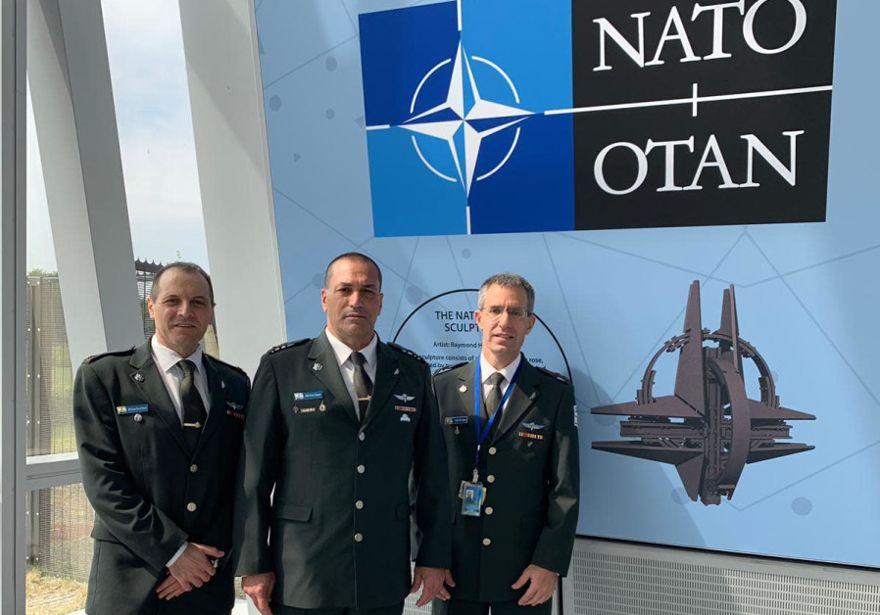 Subjefe de Estado Mayor de las FDI, General de División Eyal Zamir se reunió con líderes militares de la OTAN y otros funcionarios de la OTAN en Bruselas (Crédito: FDI)