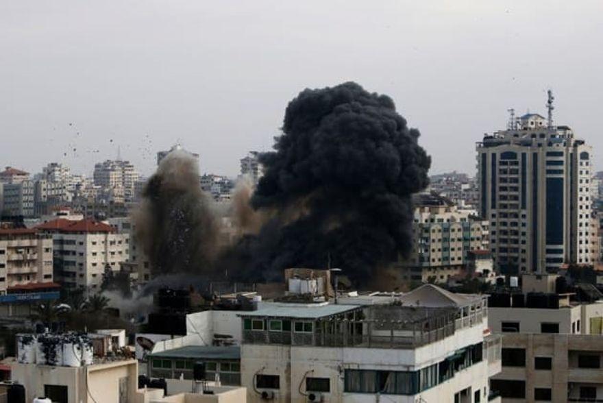 El bombardeo al aparato de seguridad interno de Hamas.