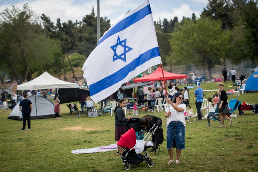 ¡Feliz cumpleaños, Israel! (Yonatan Sindel / Flash90)