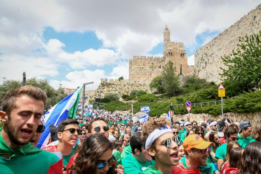 """Jerusalem """"Marcha de los vivos"""" (Yonatan Sindel / Flash90)"""