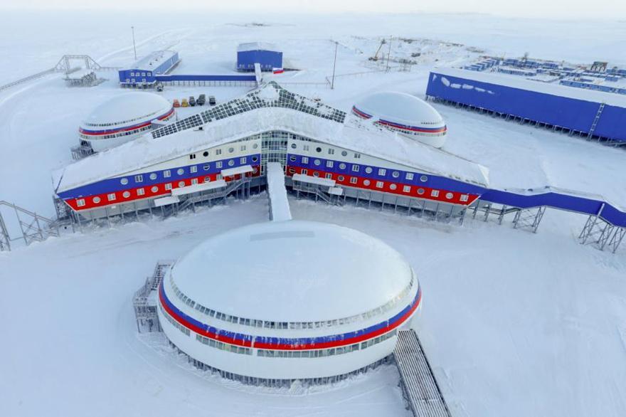 La parte más nueva de la Base Aérea Nagurskoye abrió sus puertas en 2017. (Fuente: Ministerio de Defensa de la Federación Rusa)