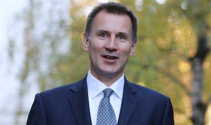 Secretario de Relaciones Exteriores británico Jeremy Hunt - Reuters