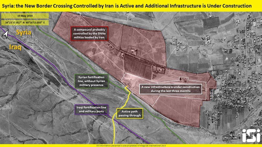 Irán construye nuevo cruce fronterizo entre Siria e Irak que le permitiría contrabandear armas y petróleo