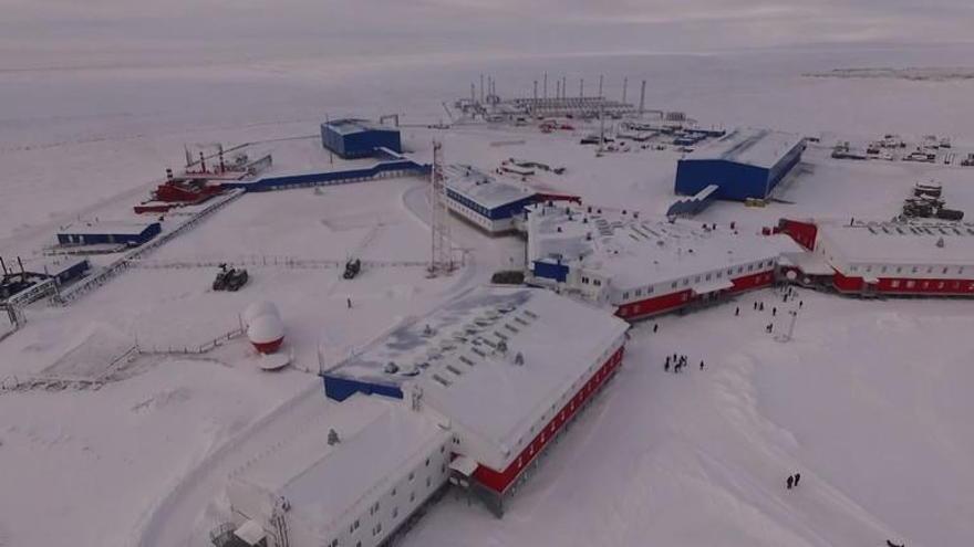 Base Aérea de Temp en la isla de Kotelny. (Fuente: Ministerio de Defensa de la Federación Rusa)