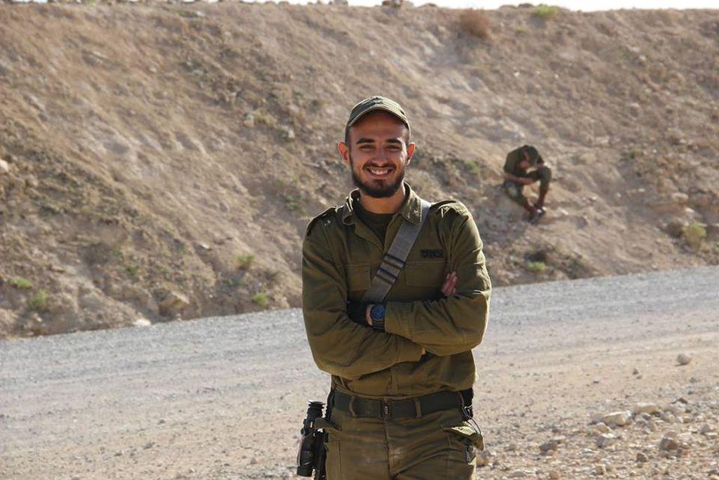 Yahya en la frontera con Gaza. Posteó esta foto el 8 de abril.