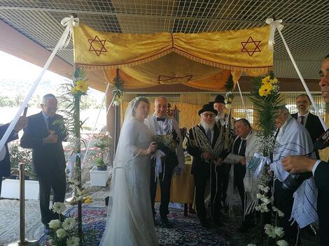 Boda de los Dres. Roque Pugliese e Ivana Pezzoli en Calabria (Shavei Israel)