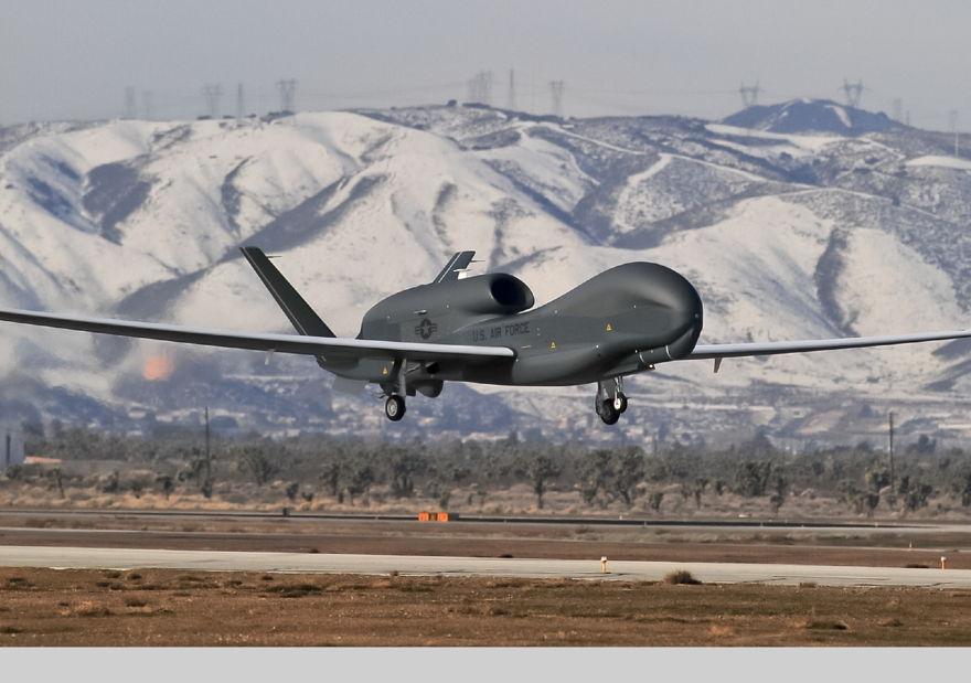 Ilustrativo: un avión no tripulado Northrop Grumman Global Hawk (GLOBE NEWSWIRE a través de AP)