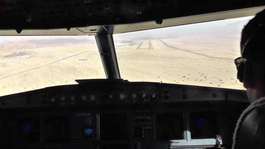 Aterrizaje en el Aeropuerto Internacional Ramon (Foto: Itay Blumenthal)