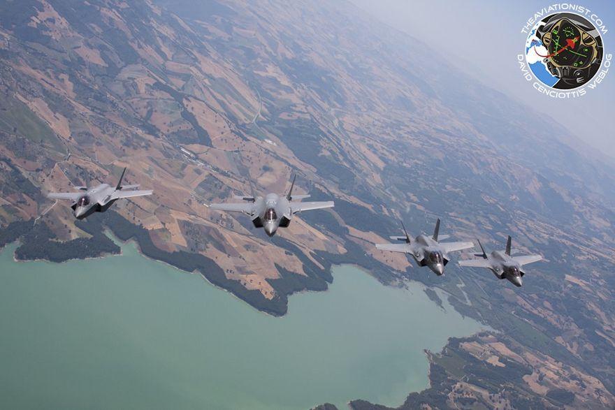 Los F-35 italianos y británicos volaron juntos por el sur de Italia antes de recuperarse a Amendola el 2 de julio de 2019. (Todas las imágenes, Autor a menos que se indique lo contrario).