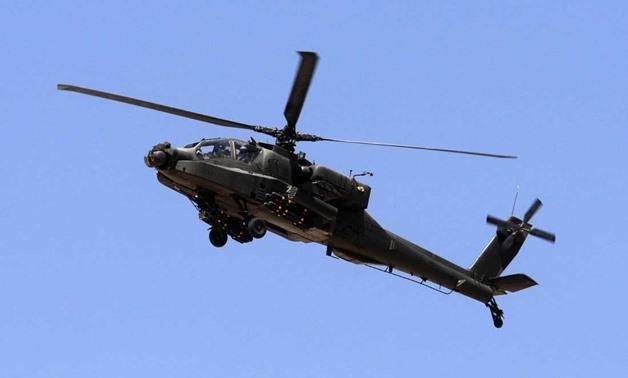 Un helicóptero de combate AH-64 Apache de la Fuerza Aérea Egipcia | Ilustración: Reuters