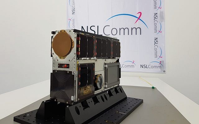 El nano-satélite NSLSat-1 tiene antenas parabólicas flexibles y de tipo tejido que se expanden en el espacio (NSLComm)