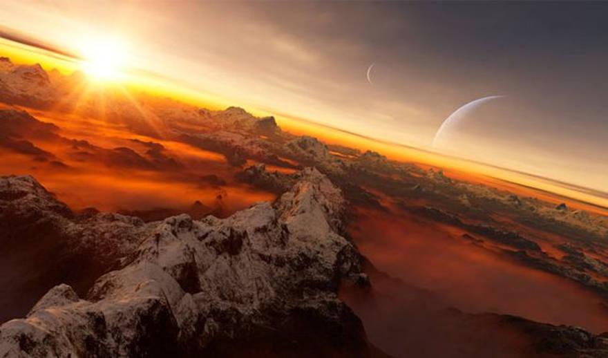 Ilustración de un exoplaneta en zona habitable. Unión Astronómica Internacional/L. Calcada.