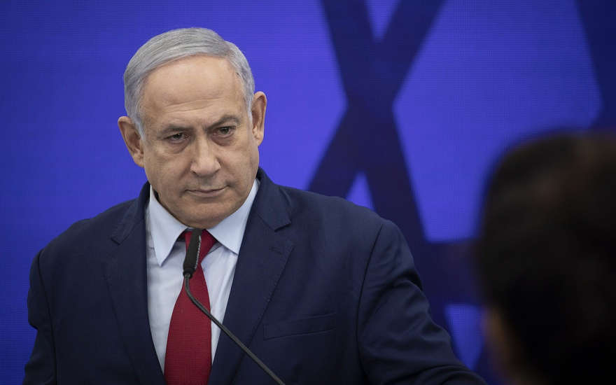 El primer ministro Benjamin Netanyahu da un discurso en Ramat Gan el 10 de septiembre de 2019. (Hadas Parush / Flash90)