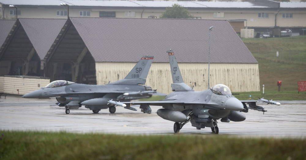 Cazas F-16 de la Fuerza Aérea de EE.UU. participaron en entrenamiento aéreo en Alemania