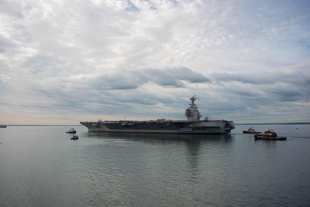 Nuevo portaaviones de la Armada de EE.UU., de 13.000 millones de dólares, regresó al mar
