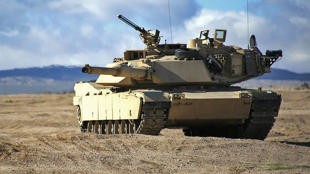 Un tanque M1 Abrams.