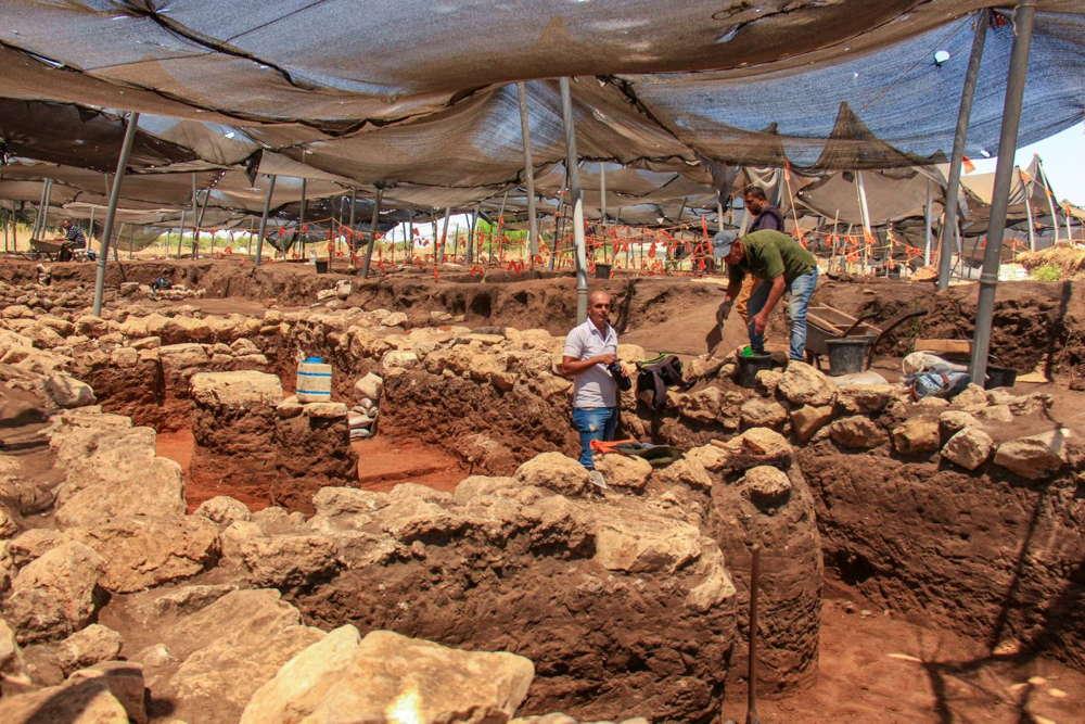 Una vista del mega sitio desde la Edad del Calcolítico y la Edad del Bronce descubierta en En Esur.