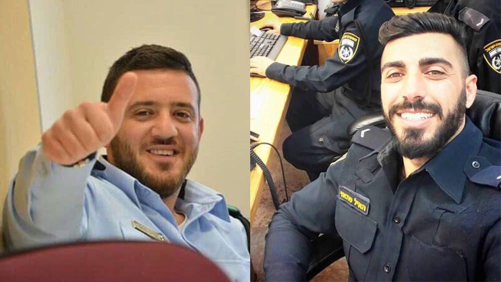 Sargento Primero Kamil Shnaan, izquierda, y el Sargento Primero. Haiel Sitawe, a la derecha, los agentes de policía muertos en el ataque terrorista junto al complejo del Monte del Templo en Jerusalén el 14 de julio de 2017. (Policía de Israel)