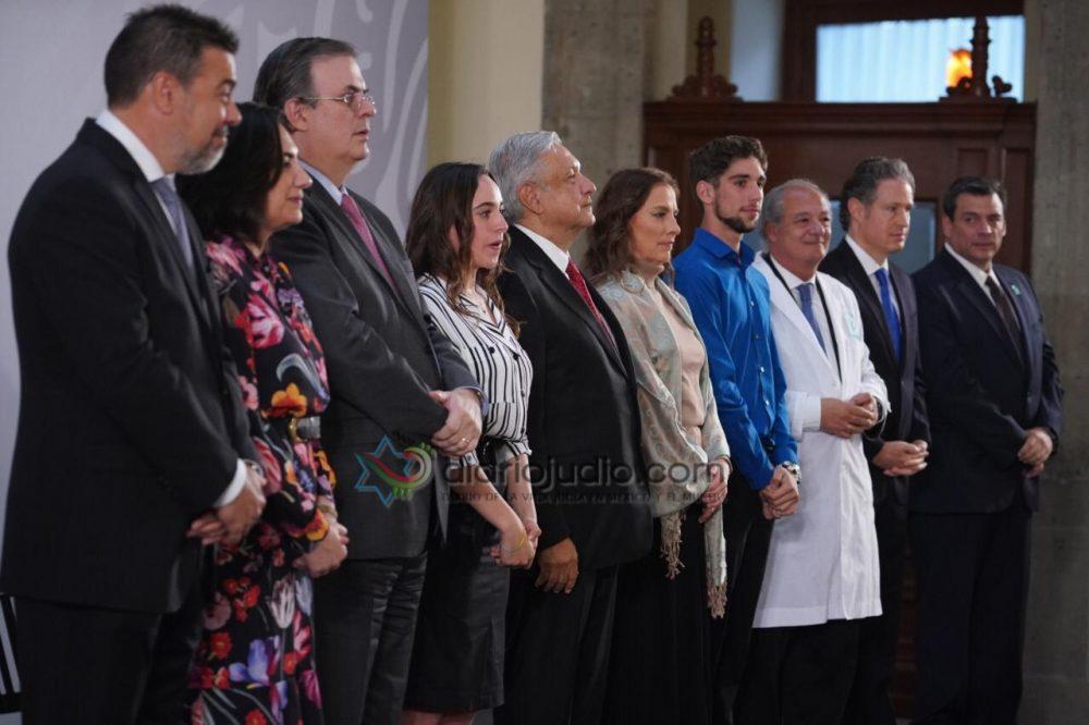 Jóvenes de Scholas del Papa Francisco y de la Organización Judía Ort dialogan con Presidente de México