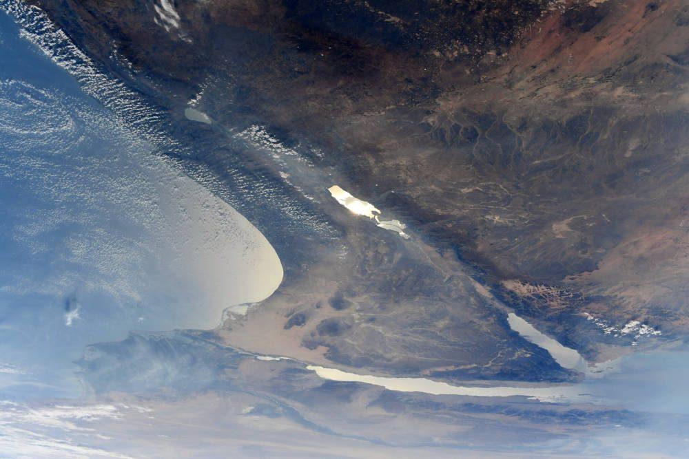 Israel visto desde el espacio (Jessica Meir / NASA a través de Twitter)