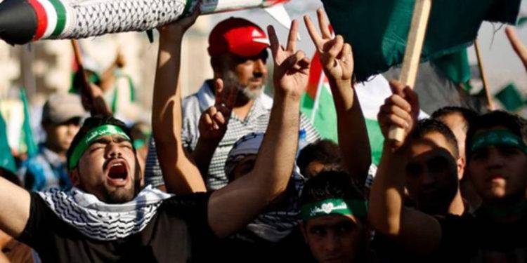 Manifestación de la Hermandad Musulmana, Amman, 8 de agosto de 2014. (crédito de la foto: REUTERS)