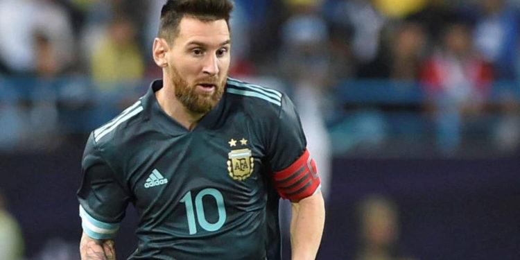 El argentino Lionel Messi en el estadio Bloomfield de Tel Aviv, 18 de noviembre de 2019. (Flash90)
