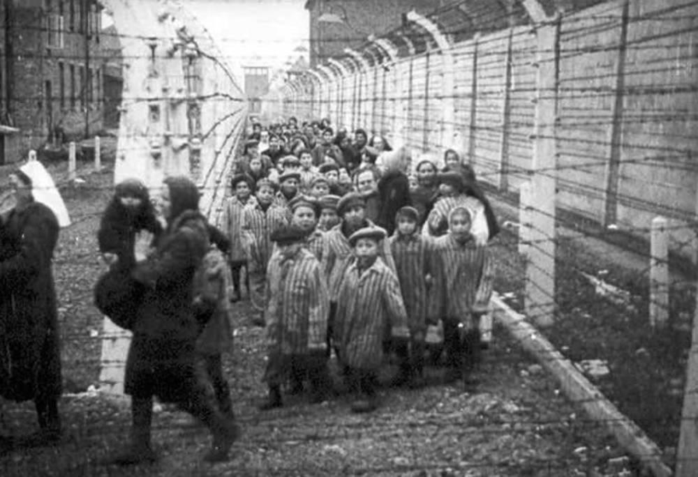 Liberación de niños de Auschwitz-Birkenau. (HistClo.com)