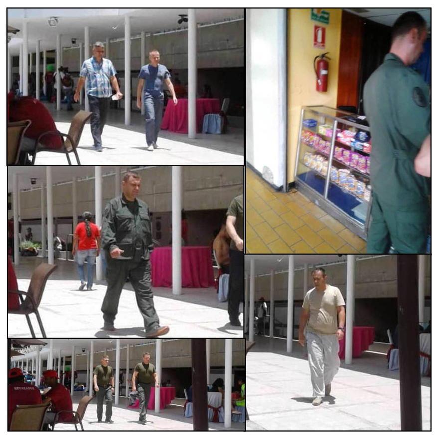 Fotos de presuntos militares rusos que circulan en los medios venezolanos. (Fuente: albertonews / archive )