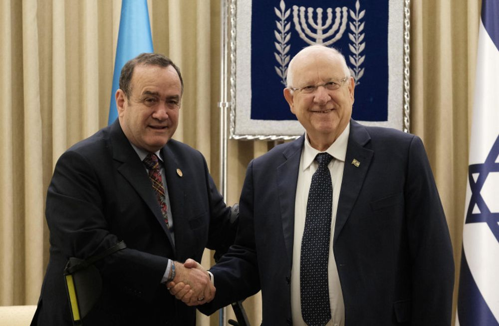 Presidente de Guatemala a Rivlin: Los enemigos de Israel son nuestros enemigos