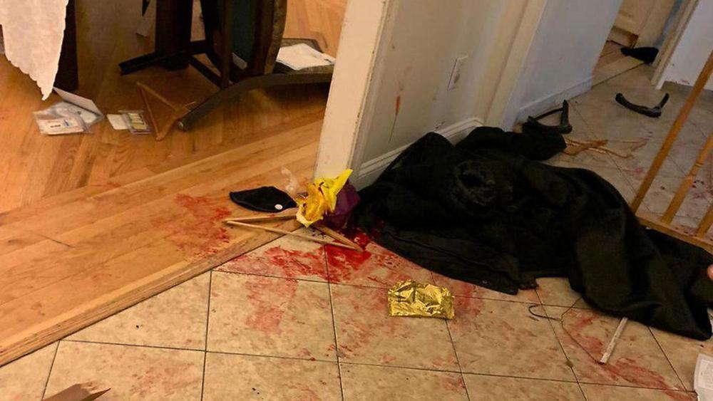 La escena del ataque en una fiesta de Hanukkah en Monsey