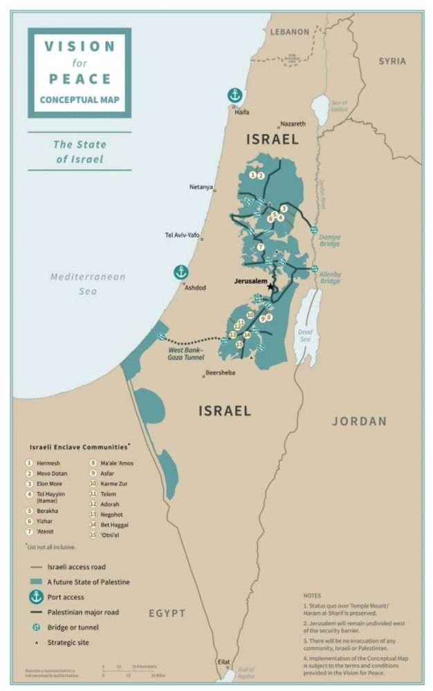 """Los """"mapas conceptuales"""" del plan de paz de Trump"""